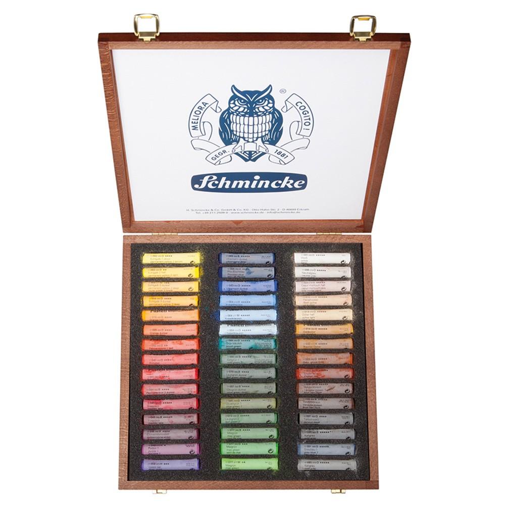 Schmincke Pastels : Set of 45 Sticks in Wooden Case : New Assortment