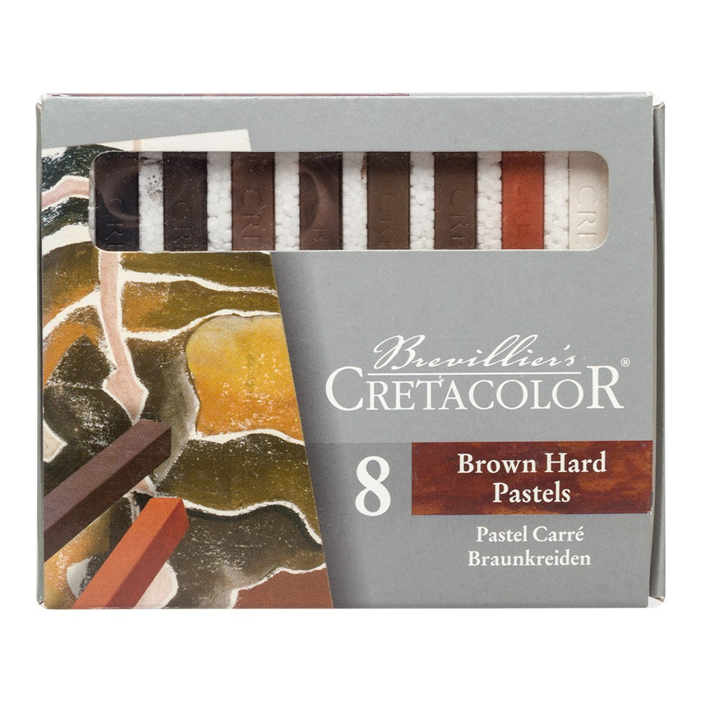 Cretacolor : Carres set of 8 Hard Pastels Browns