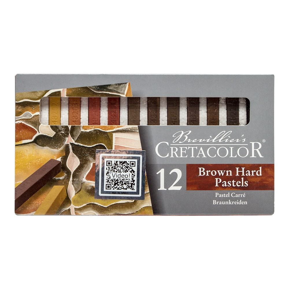 Cretacolor : Carres set of 12 Hard Pastels Browns