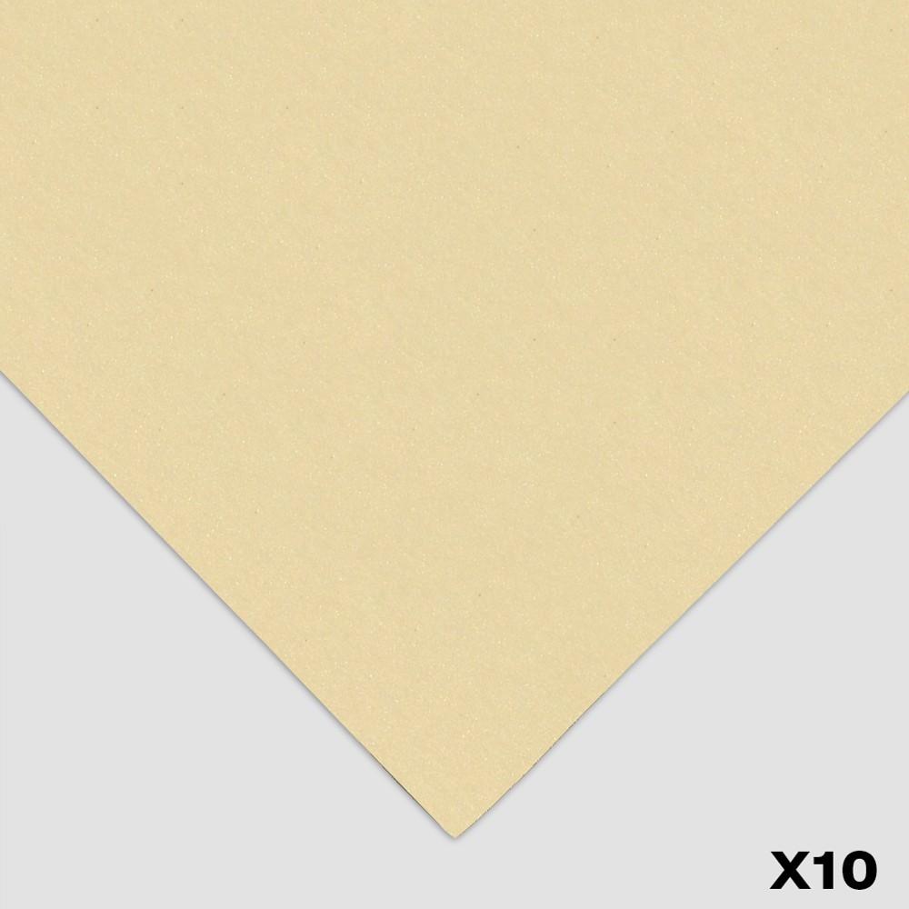Tim Fisher : 400 Art Pastel Paper : 10 Pack : Approx 50x70cm : Light Buff (Classic)