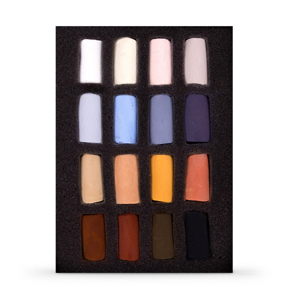Unison Colour : Soft Pastel : Emma Colbert Animal Set of 16 Half Sticks