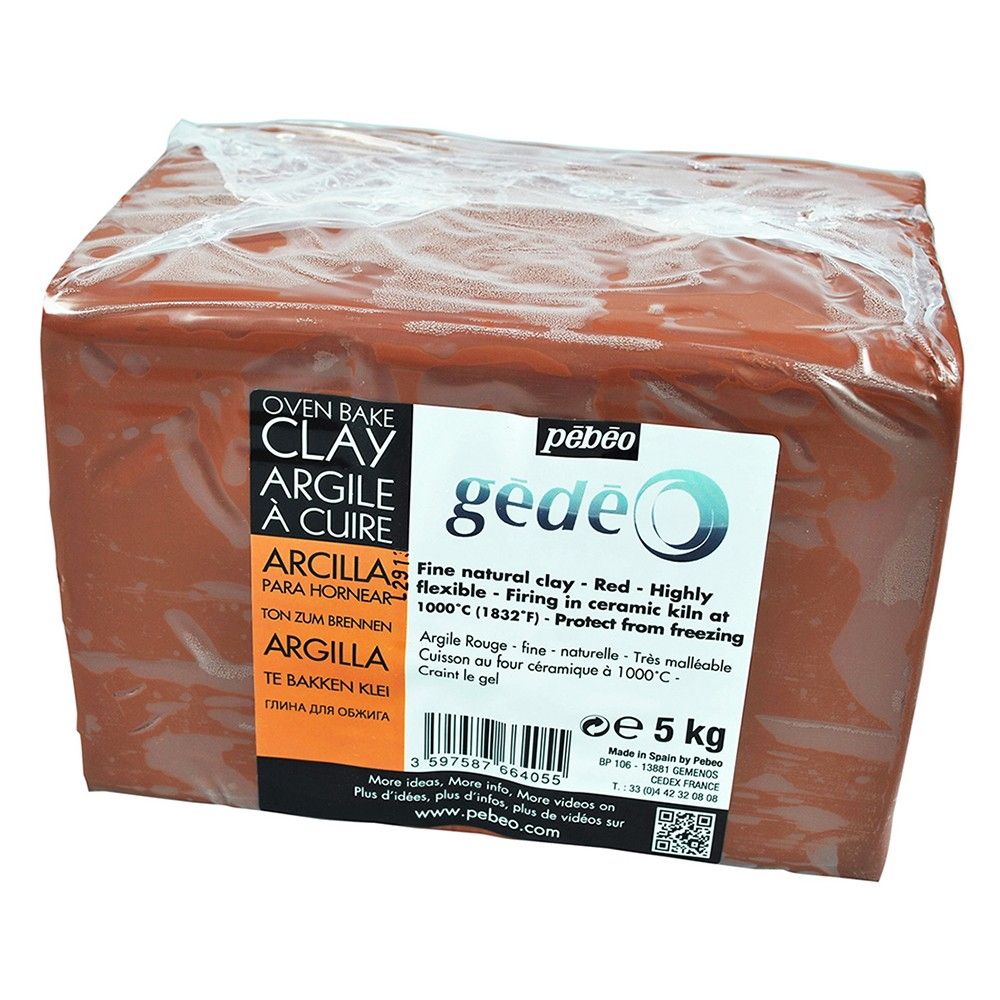 Pebeo Gedeo : Modelling Clay : Red 5kg