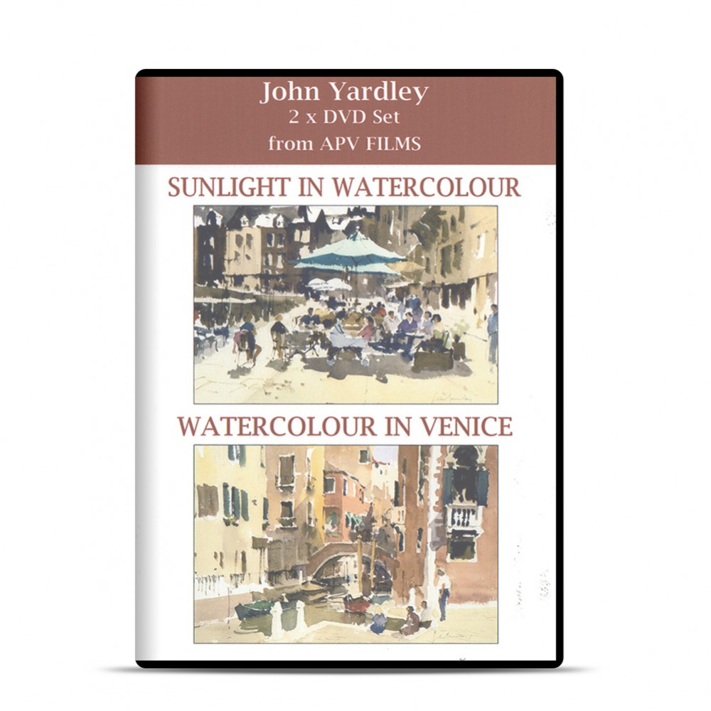 DVD : Twin Pack : Watercolour in Venice and Sunlight : John Yardley