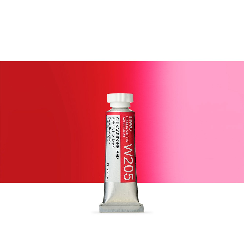 Holbein Watercolour : 15ml Tube QUINACRIDONE RED