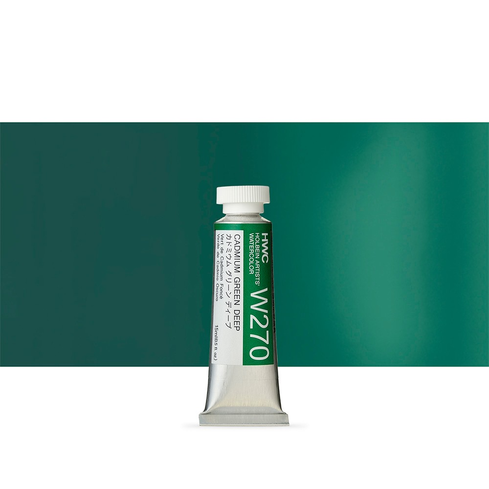Holbein Watercolour : 15ml Tube CADMIUM GREEN DEEP