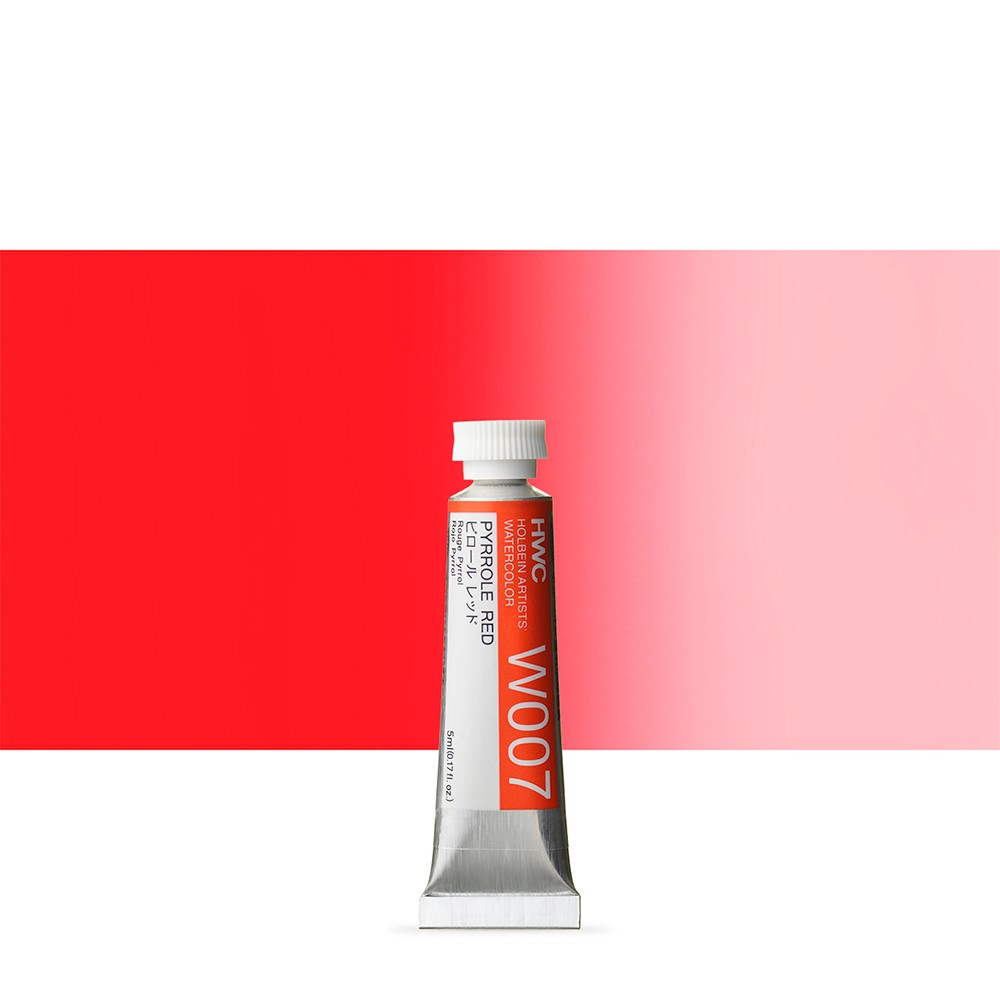 Holbein Watercolour : 5ml Tube PYRROLE RED