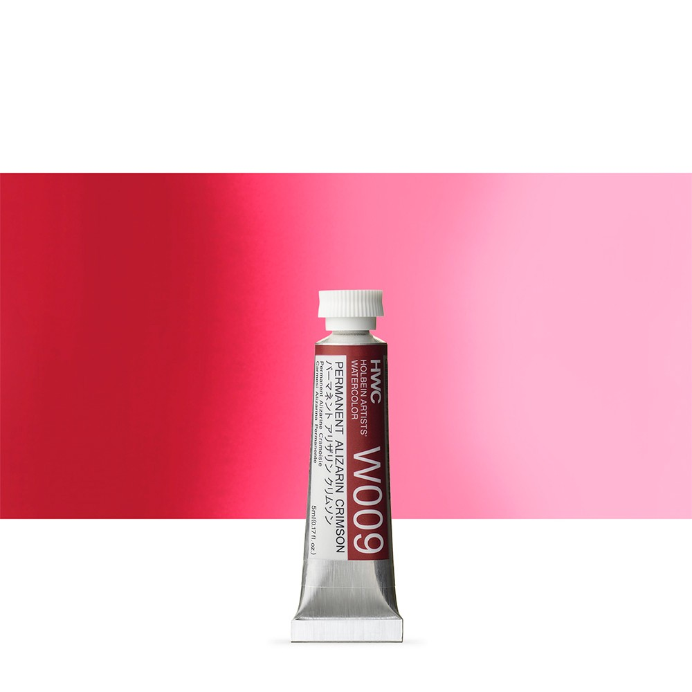 Holbein Watercolour : 5ml Tube PERMANENT ALIZARIN CRIMSON