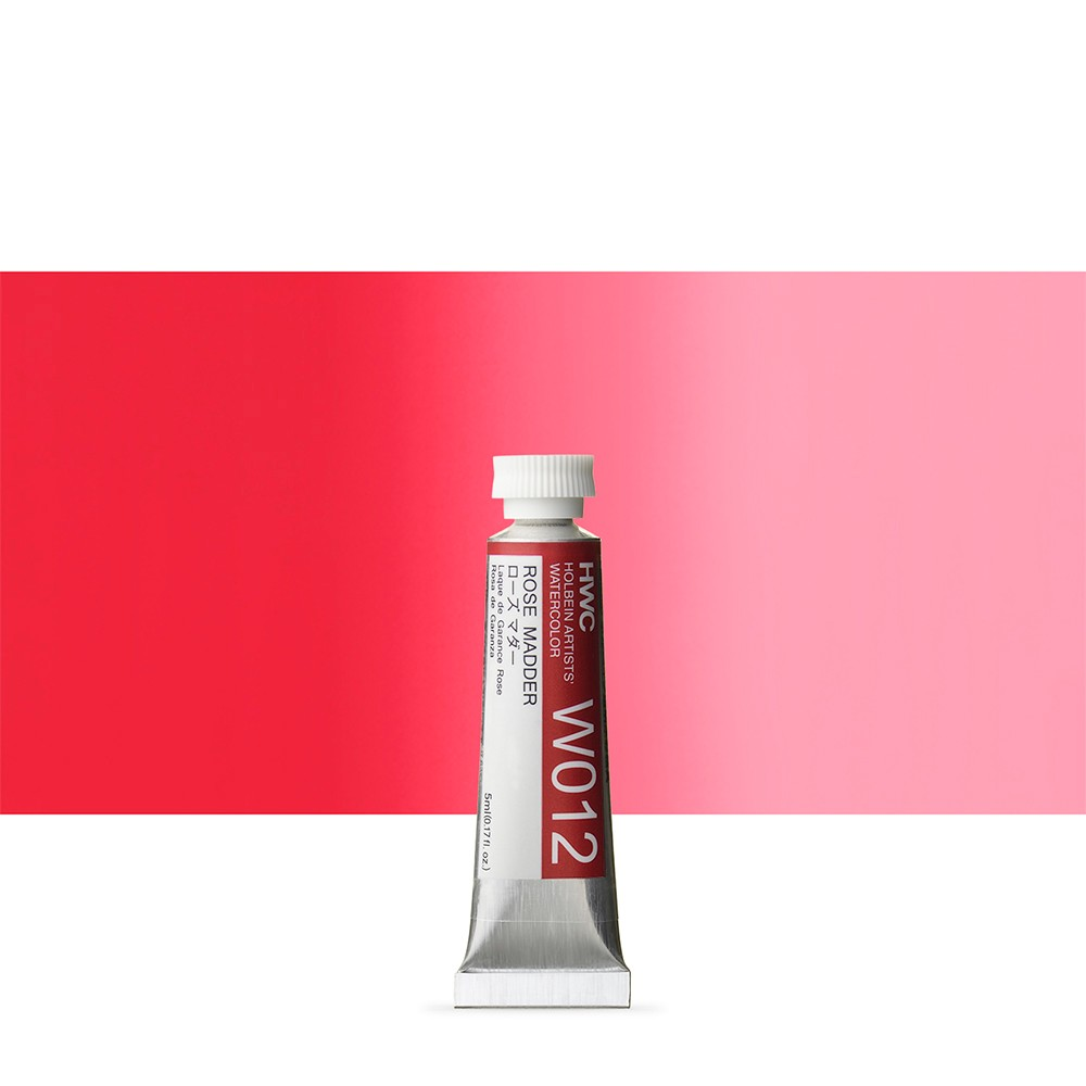 Holbein Watercolour Paint : 5ml Tube Rose Madder
