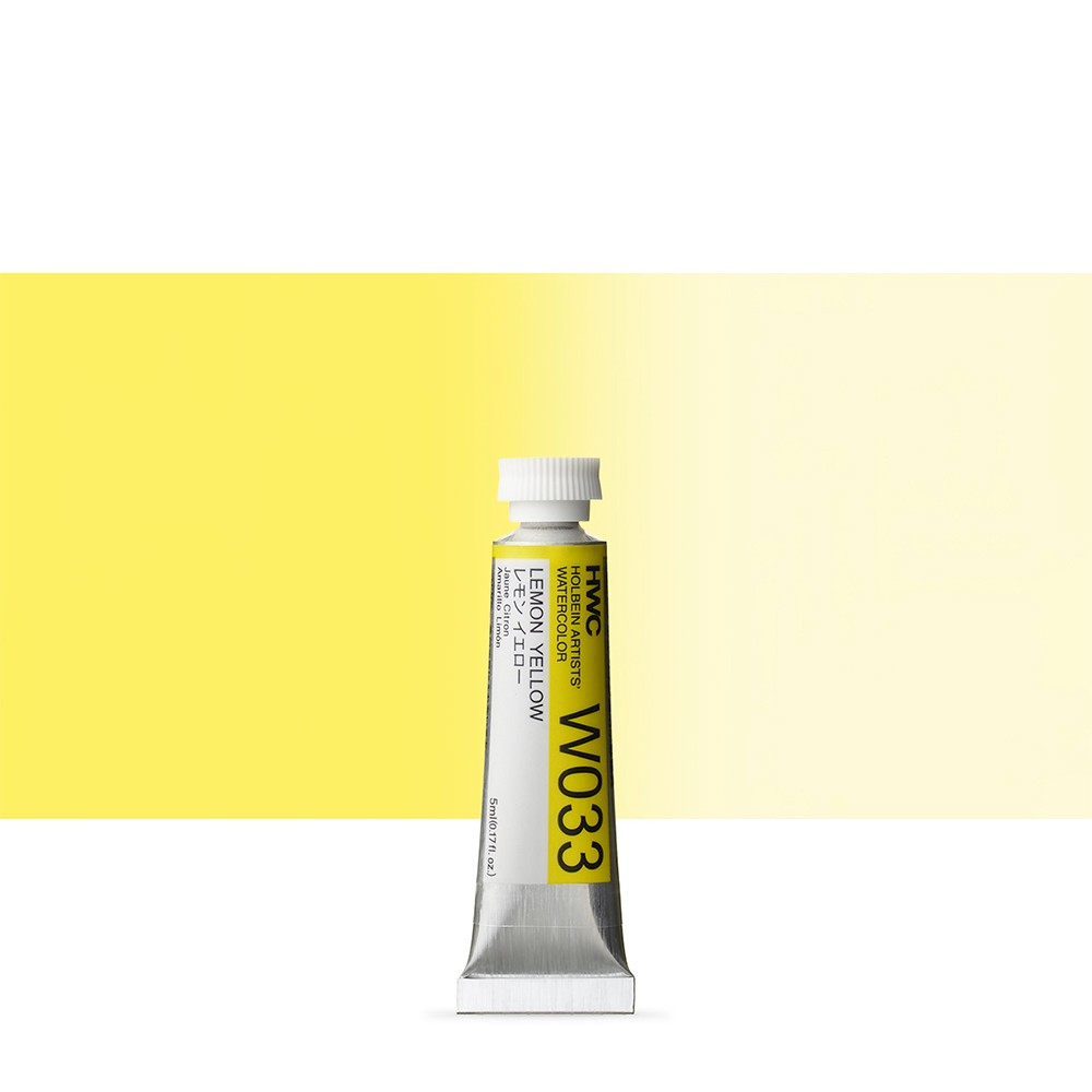 Holbein Watercolour : 5ml Tube LEMON YELLOW