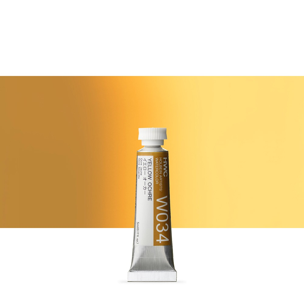 Holbein Watercolour Paint : 5ml Tube Yellow Ochre