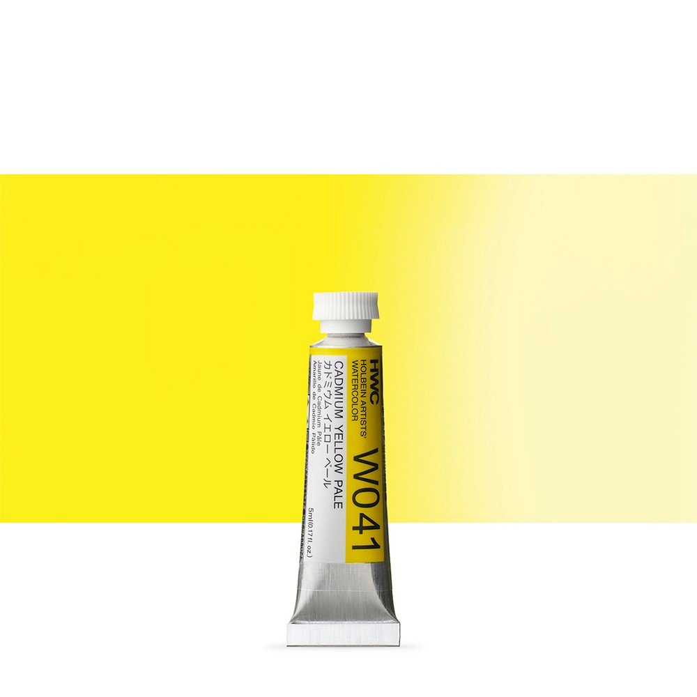 Holbein Watercolour Paint : 5ml Tube Cadmium Yellow Pale