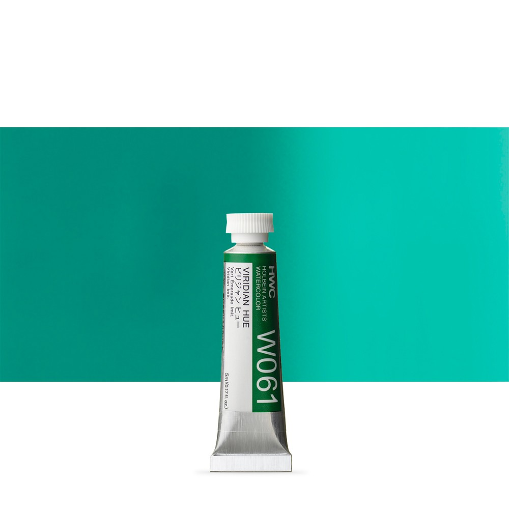 Holbein Watercolour : 5ml Tube VIRIDIAN HUE