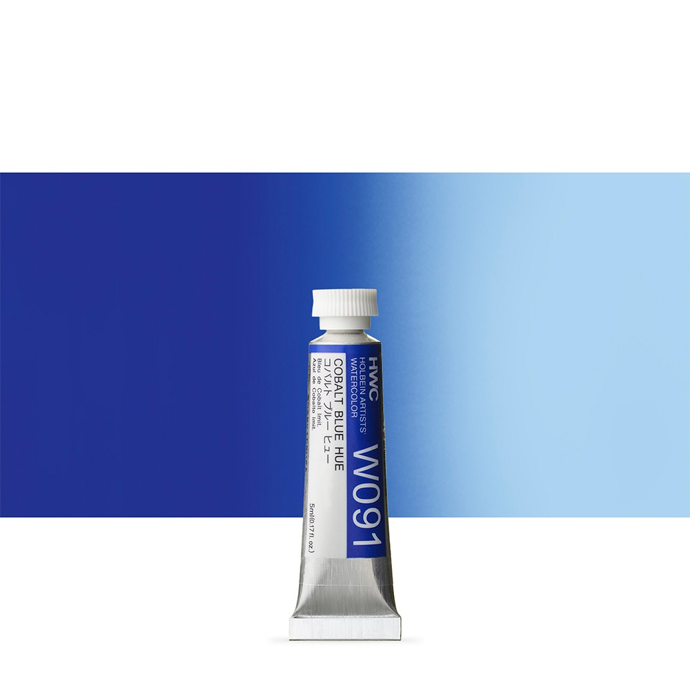 Holbein Watercolour : 5ml Tube COBALT BLUE HUE