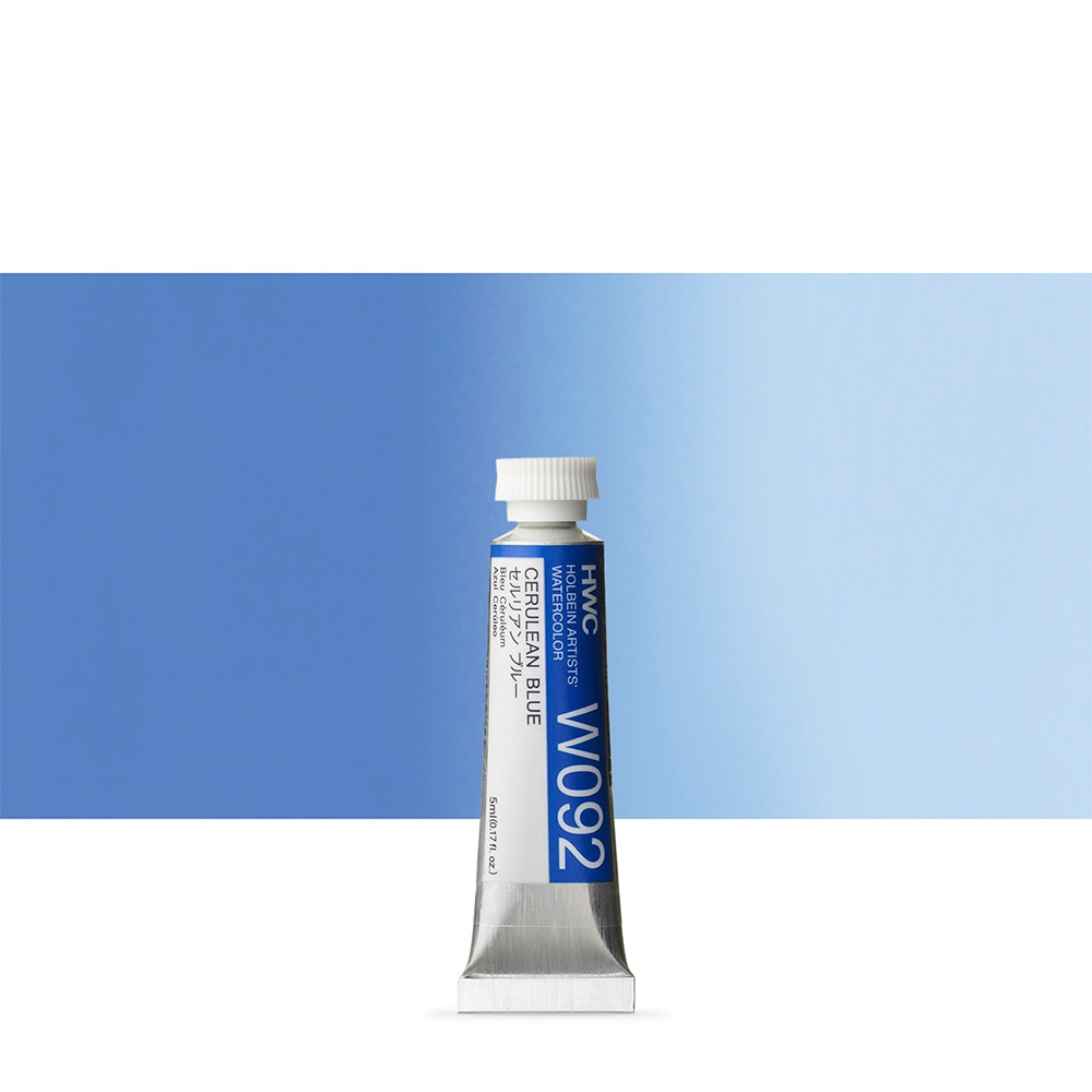 Holbein Watercolour Paint : 5ml : Cerulean Blue