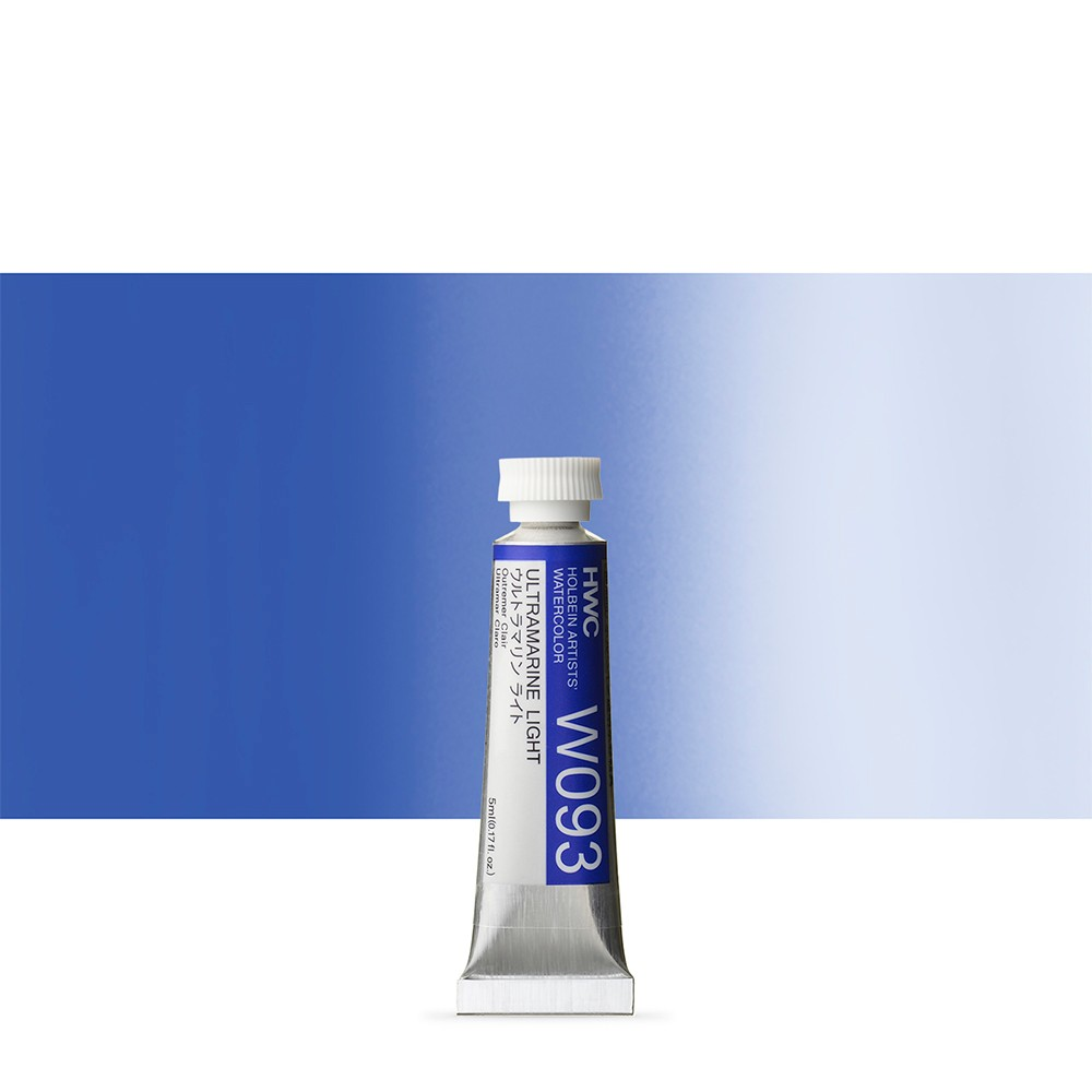 Holbein Watercolour : 5ml Tube ULTRAMARINE LIGHT