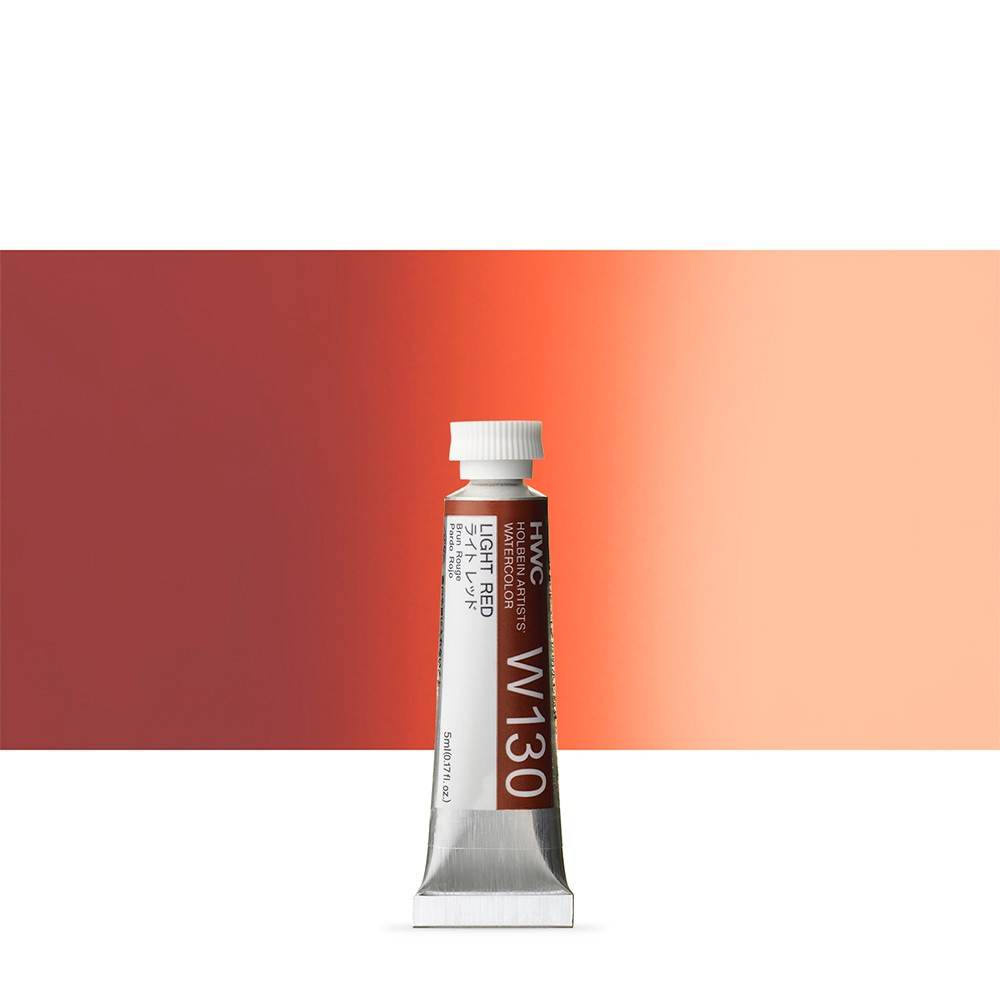 Holbein : Watercolour Paint : 5ml : Tube Light Red