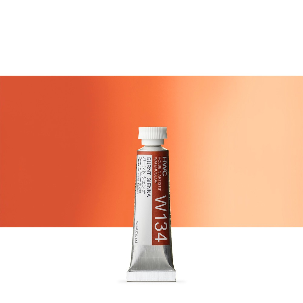 Holbein Watercolour Paint : 5ml Tube Burnt Sienna