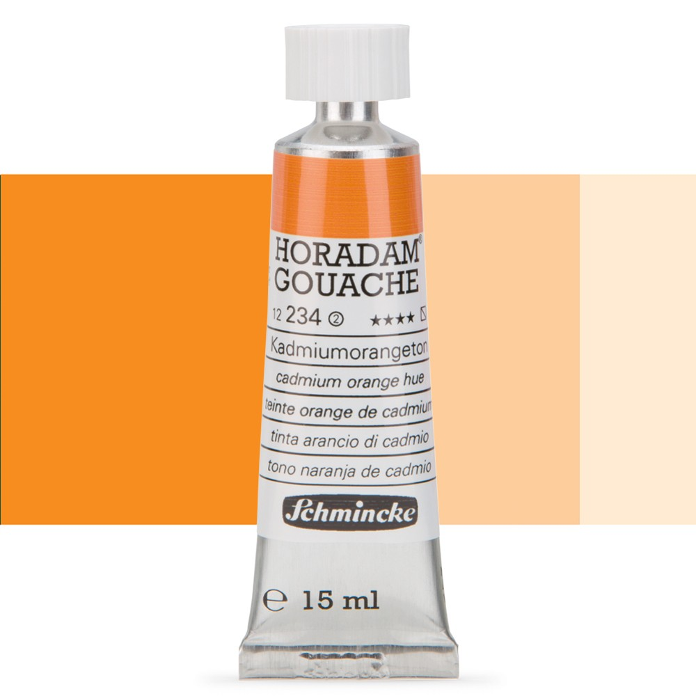 Schmincke : Horadam Gouache Paint : 15ml : Cadmium Orange Hue