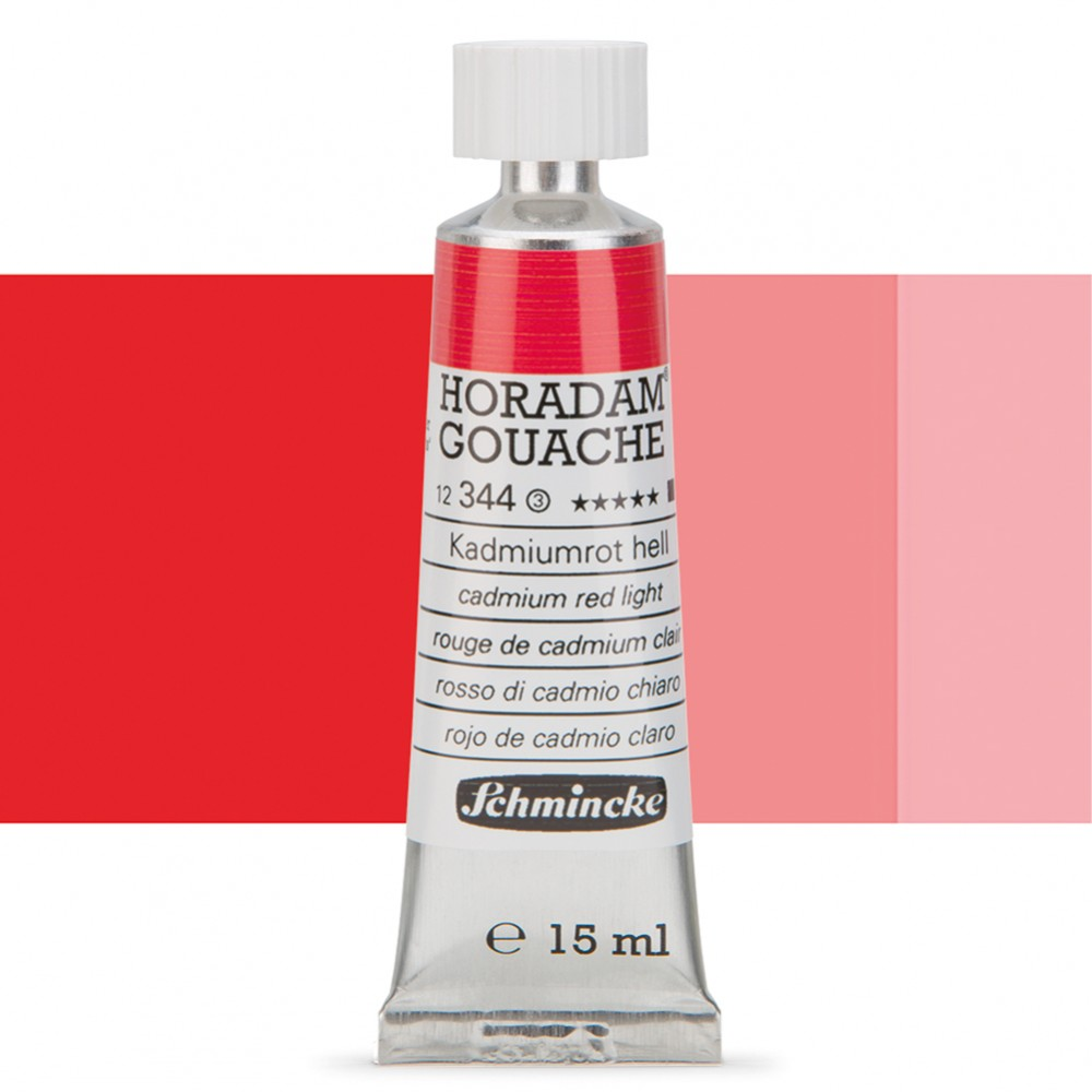 Schmincke : Horadam Gouache Paint : 15ml : Cadmium Red Light