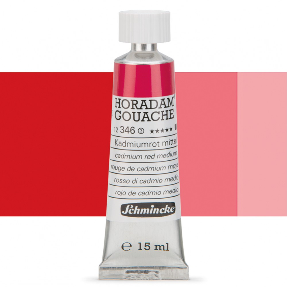 Schmincke : Horadam Gouache Paint : 15ml : Cadmium Red Middle