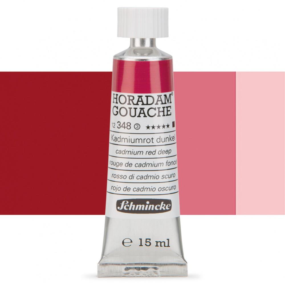 Schmincke : Horadam Gouache Paint : 15ml : Cad Red Deep