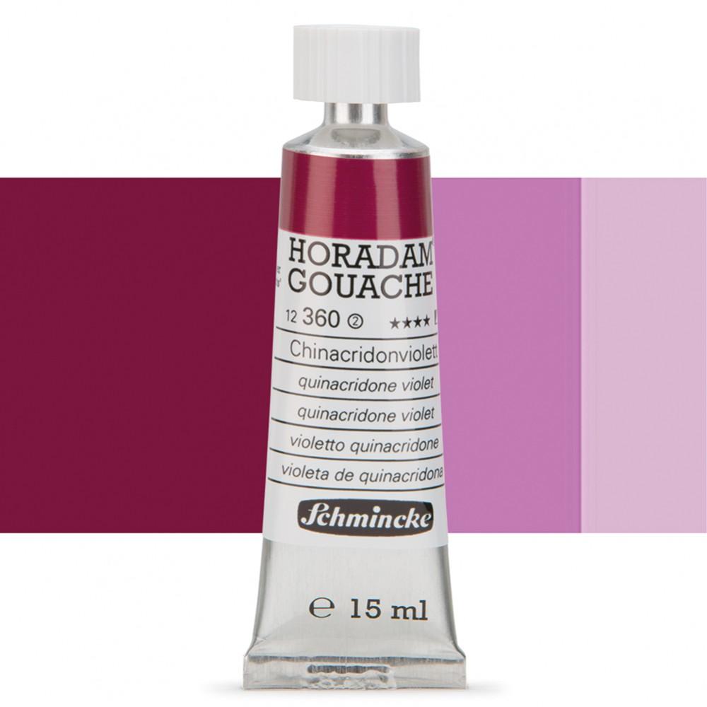 Schmincke : Horadam Gouache Paint : 15ml : Quinacridone Violet
