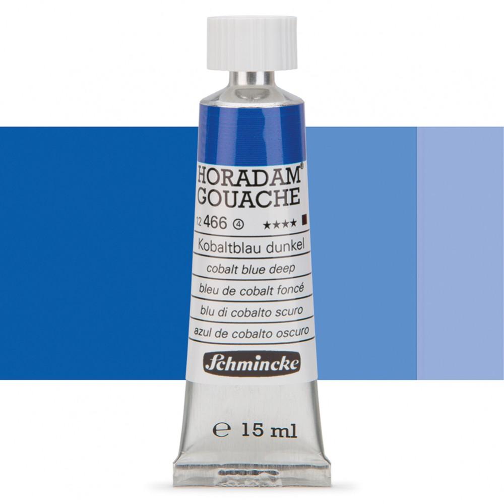Schmincke : Horadam Gouache Paint : 15ml : Cobalt Blue Deep