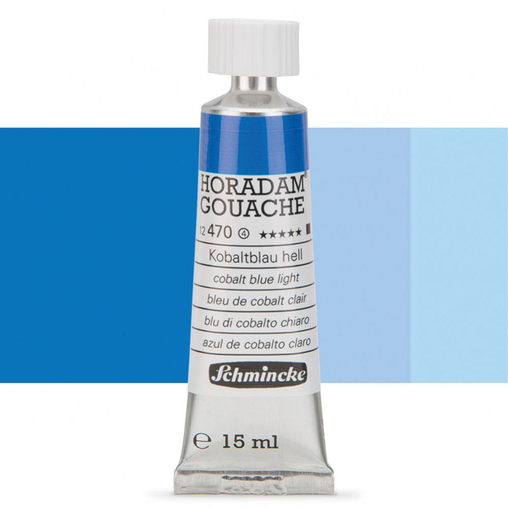 Schmincke : Horadam Gouache Paint : 15ml : Cobalt Blue Light
