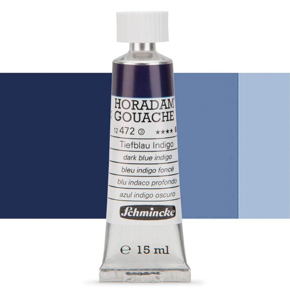 Schmincke : Horadam Gouache Paint : 15ml : Dark BlueIndigo