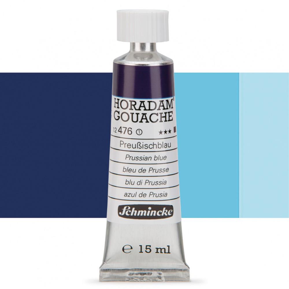 Schmincke : Horadam Gouache Paint : 15ml : Prussian Blue