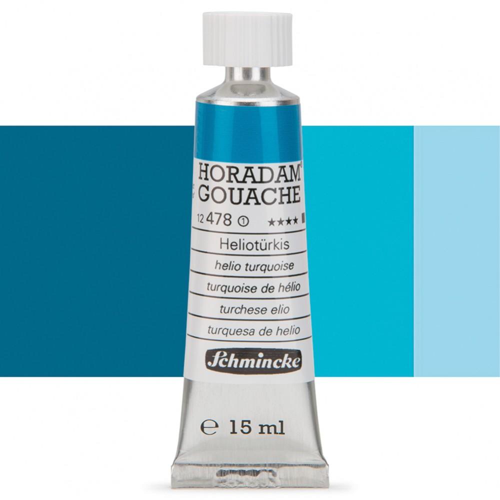 Schmincke : Horadam Gouache Paint : 15ml : Helio Turquoise