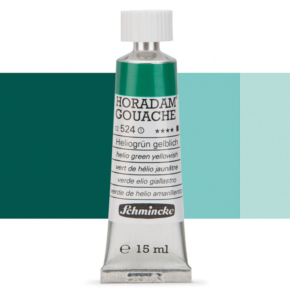 Schmincke : Horadam Gouache Paint : 15ml : Helio Green Yellowish