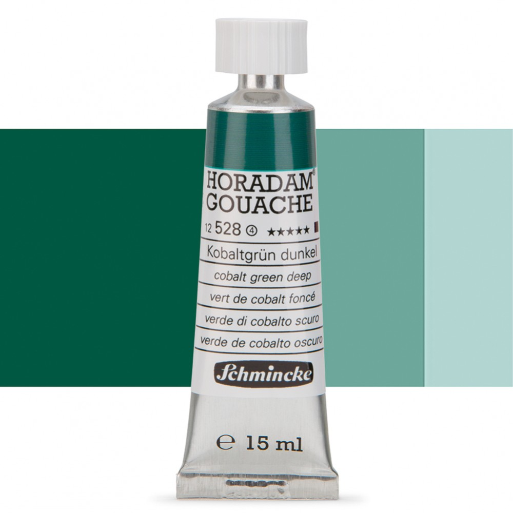 Schmincke : Horadam Gouache Paint : 15ml : Cobalt Green Deep