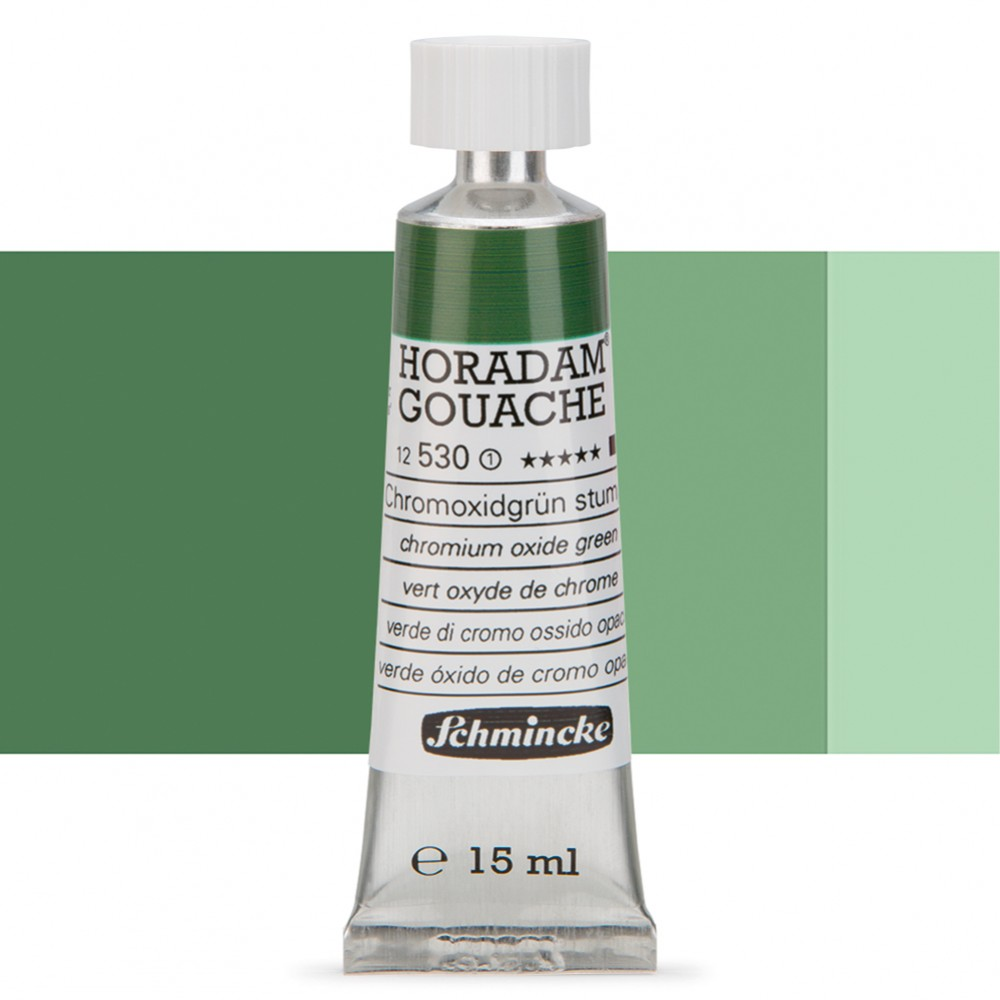Schmincke : Horadam Gouache Paint : 15ml : Chromium Oxide Green