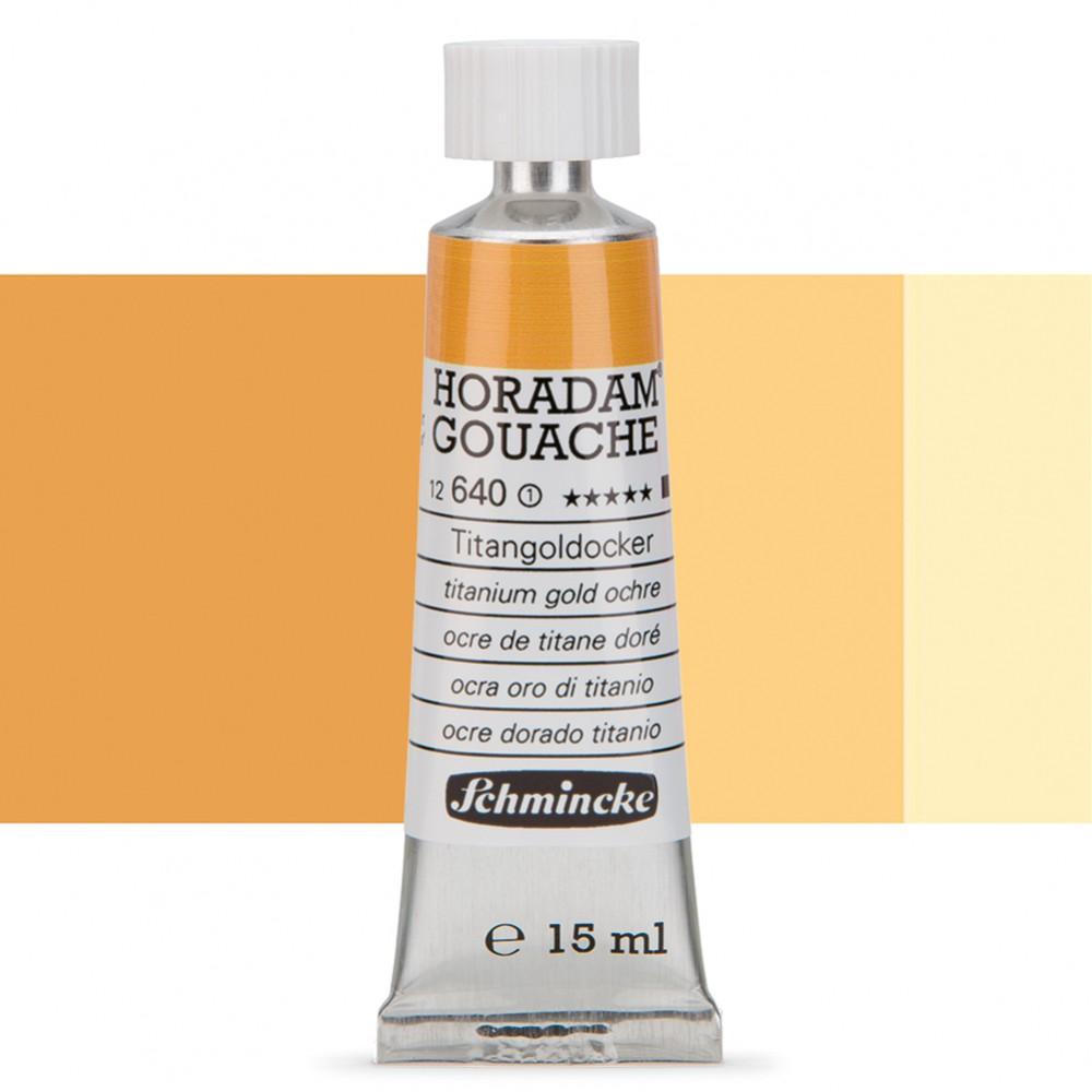 Schmincke : Horadam Gouache Paint : 15ml : Titanium Gold Ochre