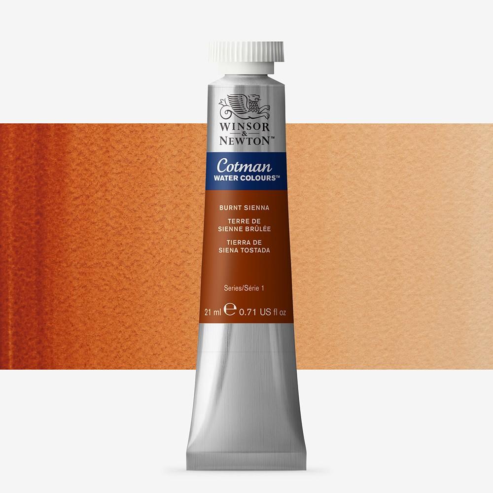 W&N : Cotman Watercolour Paint : 21ml : Tube Burnt Sienna