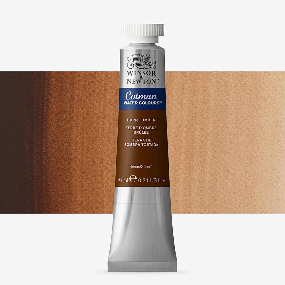 W&N : Cotman Watercolour Paint : 21ml : Tube Burnt Umber