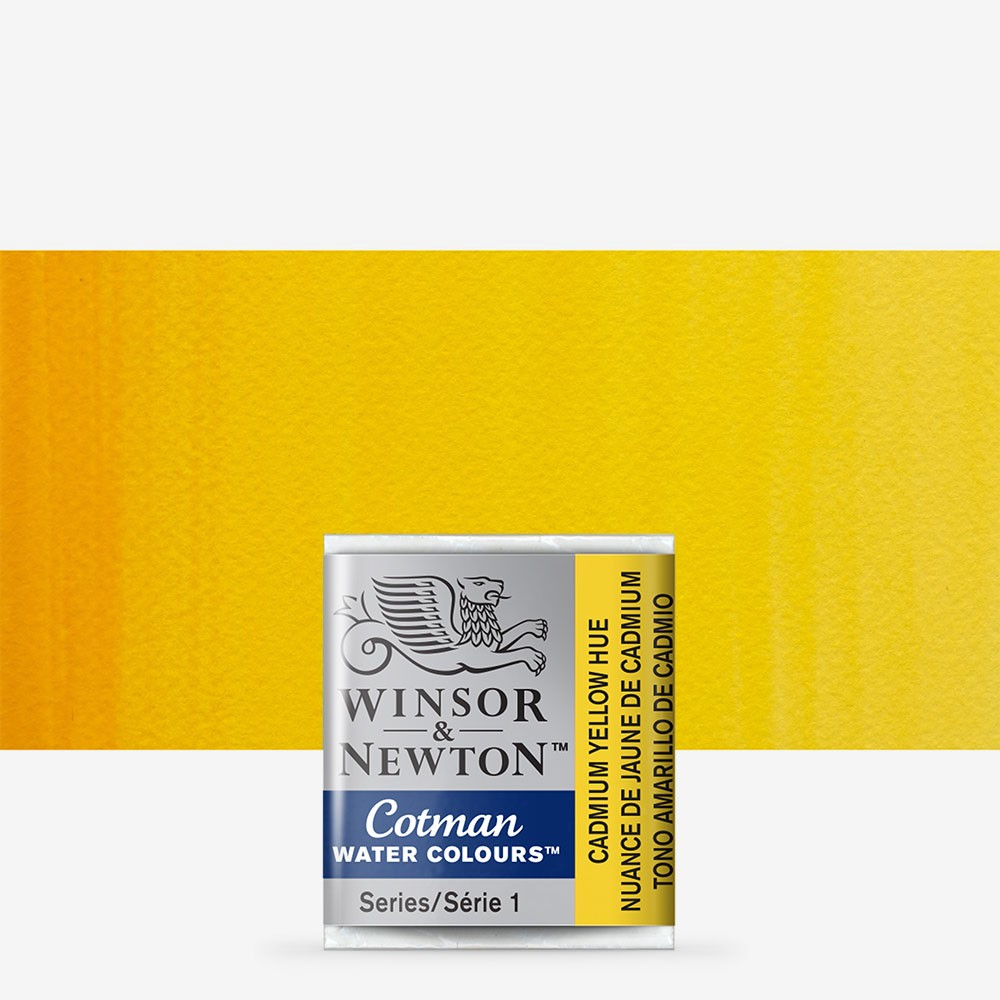 W&N : Cotman Watercolour Paint : Half Pan : Cadmium Yellow Hue