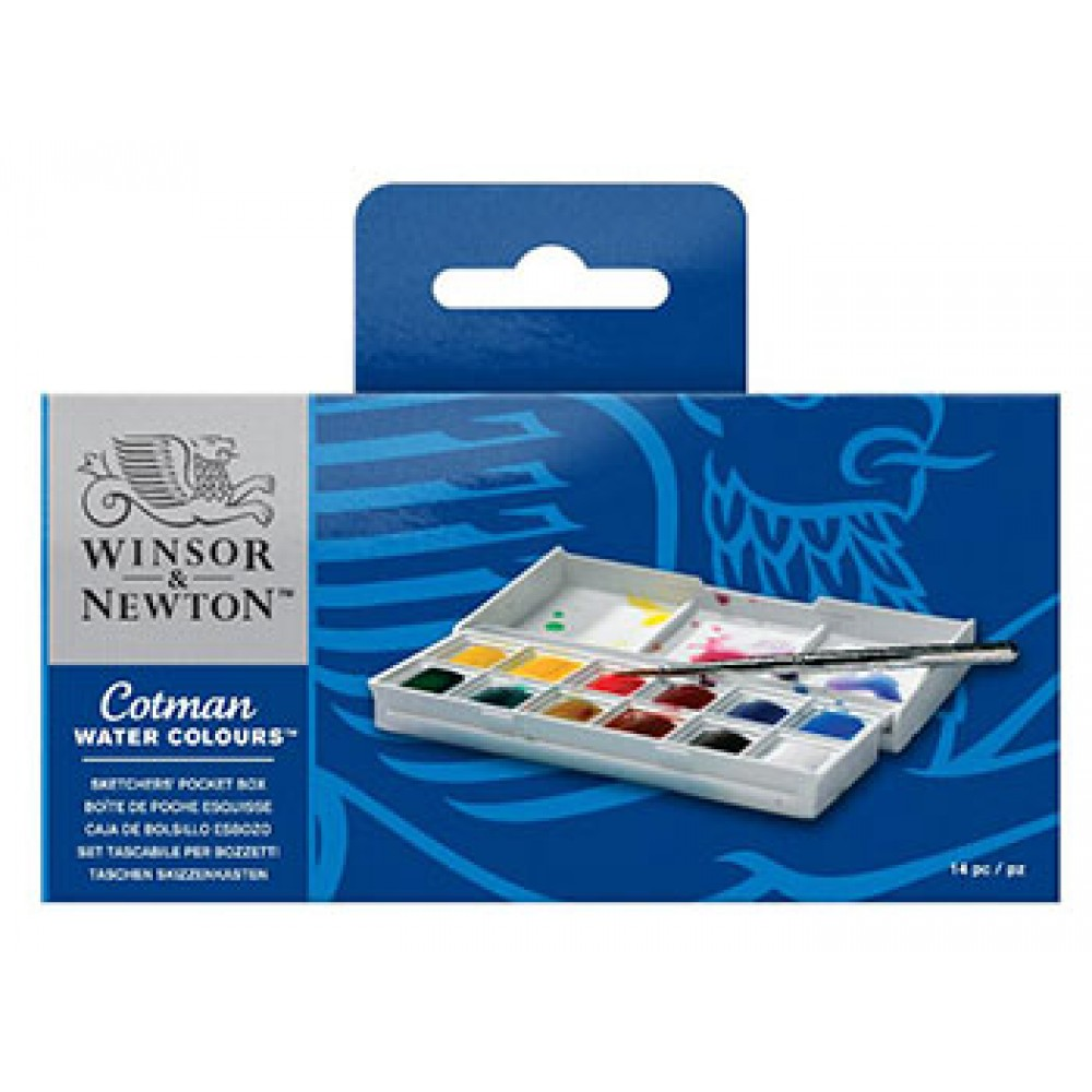 W&N : Cotman : Watercolour : Sketchers Pocket Box Set : 12 Half Pans