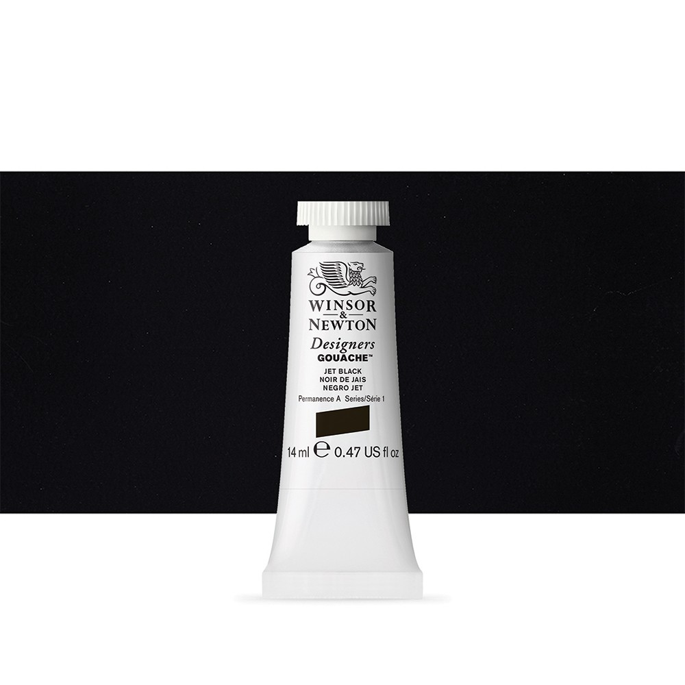 Winsor & Newton : Designer Gouache Paint : 14ml : Jet Black