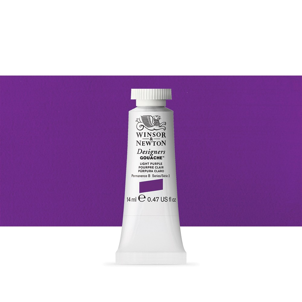 Winsor & Newton : Designer Gouache Paint : 14ml : Light Purple