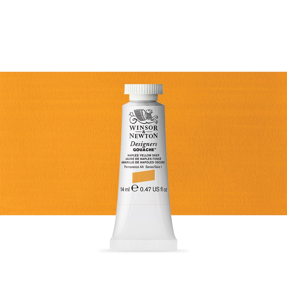 Winsor & Newton : Designer Gouache Paint : 14ml : Naples Yellow Deep