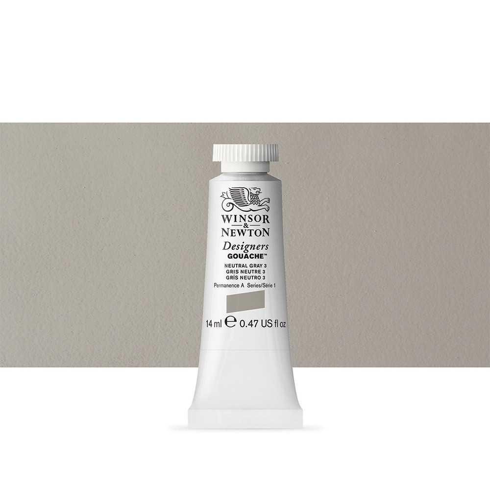 Winsor & Newton : Designer Gouache Paint : 14ml : Neutral Grey