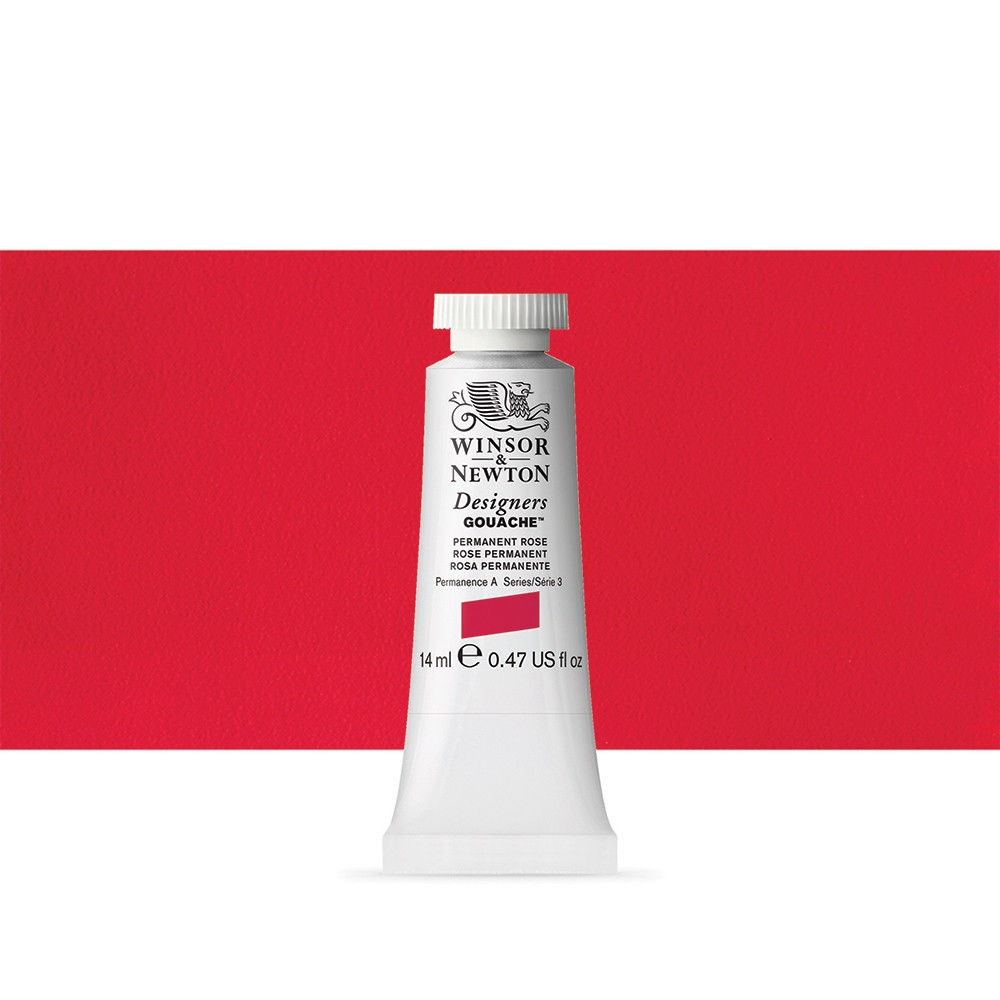 Winsor & Newton : Designer Gouache Paint : 14ml : Permanent Rose