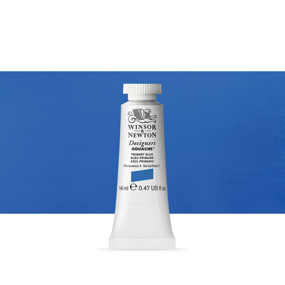 Winsor & Newton : Designer Gouache Paint : 14ml : Primary Blue