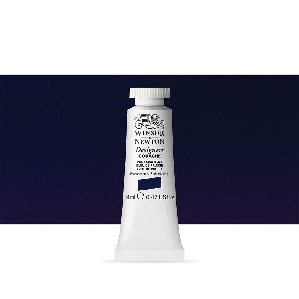 Winsor & Newton : Designer Gouache Paint : 14ml : Prussian Blue