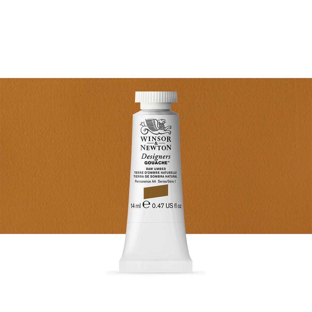 Winsor & Newton : Designer Gouache Paint : 14ml : Raw Umber