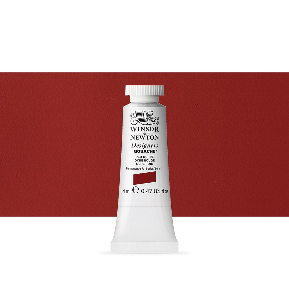 Winsor & Newton : Designer Gouache Paint : 14ml : Red Ochre