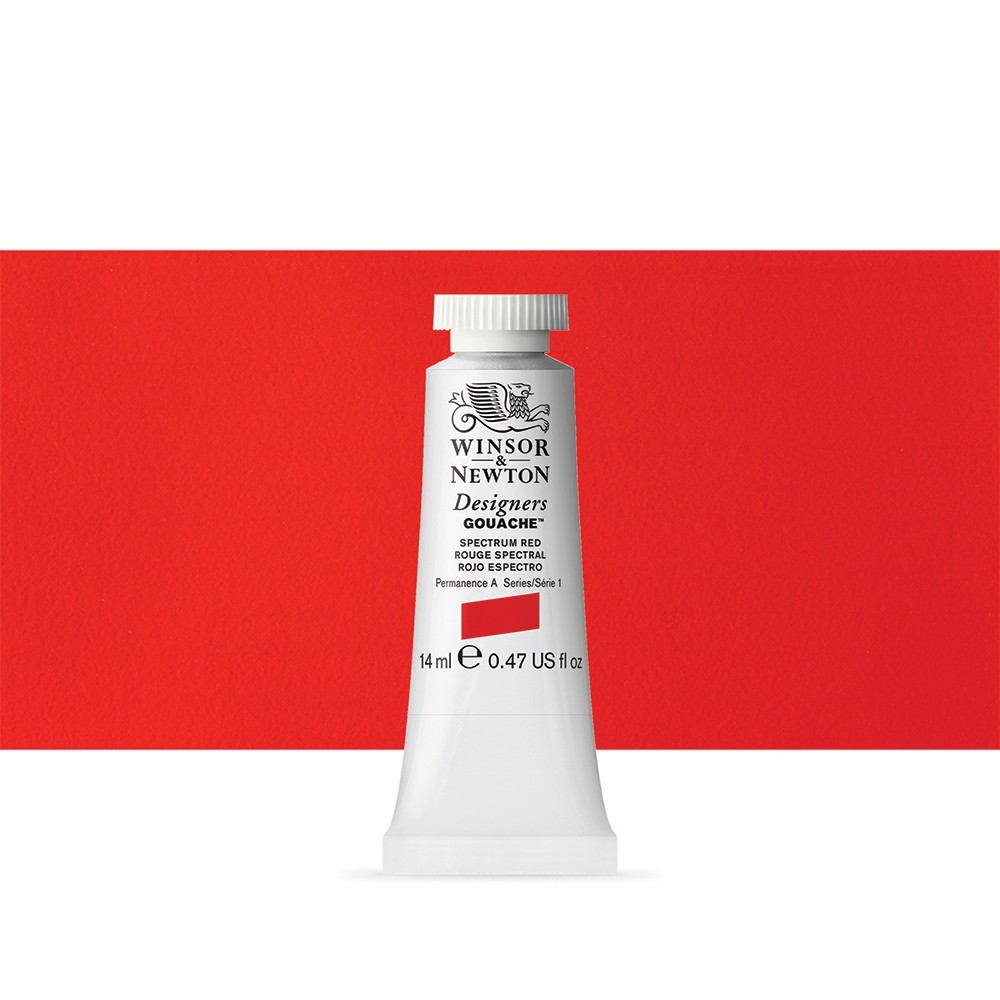 Winsor & Newton : Designer Gouache Paint : 14ml : Spectrum Red