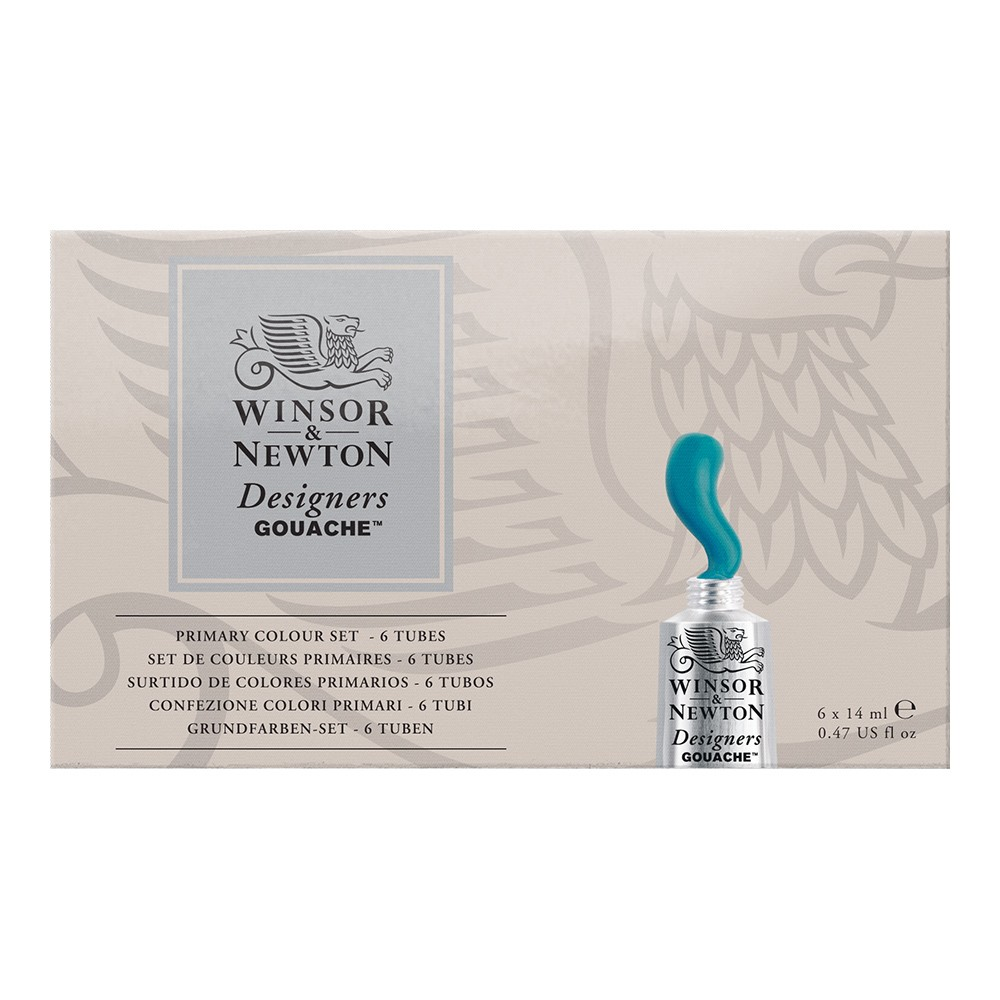 Winsor & Newton : Designer Gouache Paint : Primary Set : 6x14ml